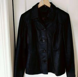Danier Black Leather Jacket + Removable Liner